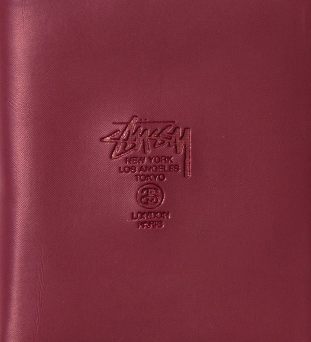 Stussy Burgundy Super Solid Sideways Wallet