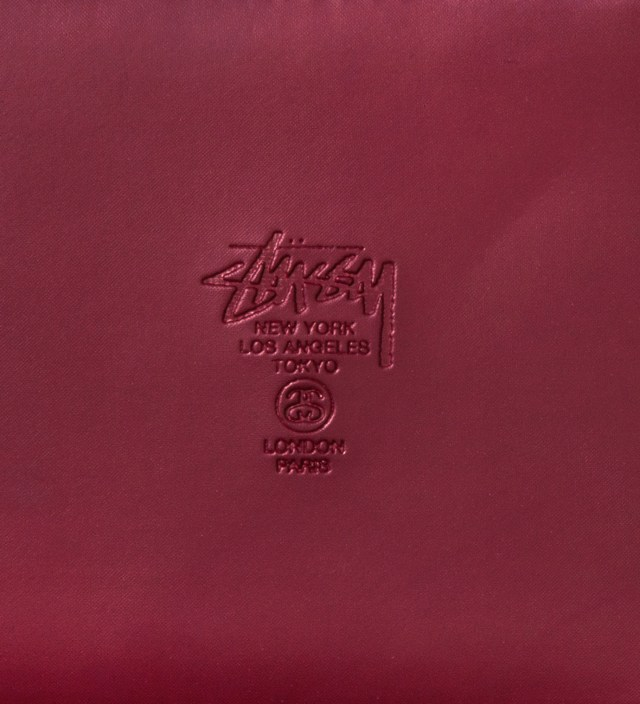 Stussy Burgundy Super Solid Zip Wallet