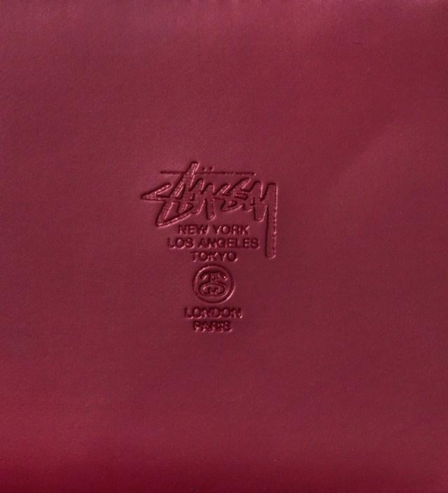 Stussy Burgundy Super Solid Zip Wallet