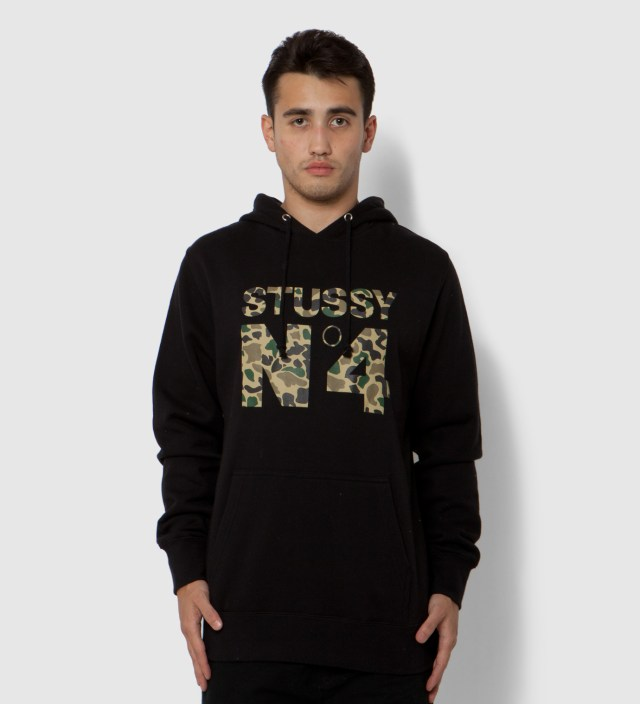Stussy Black Camo No 4 Hoodie