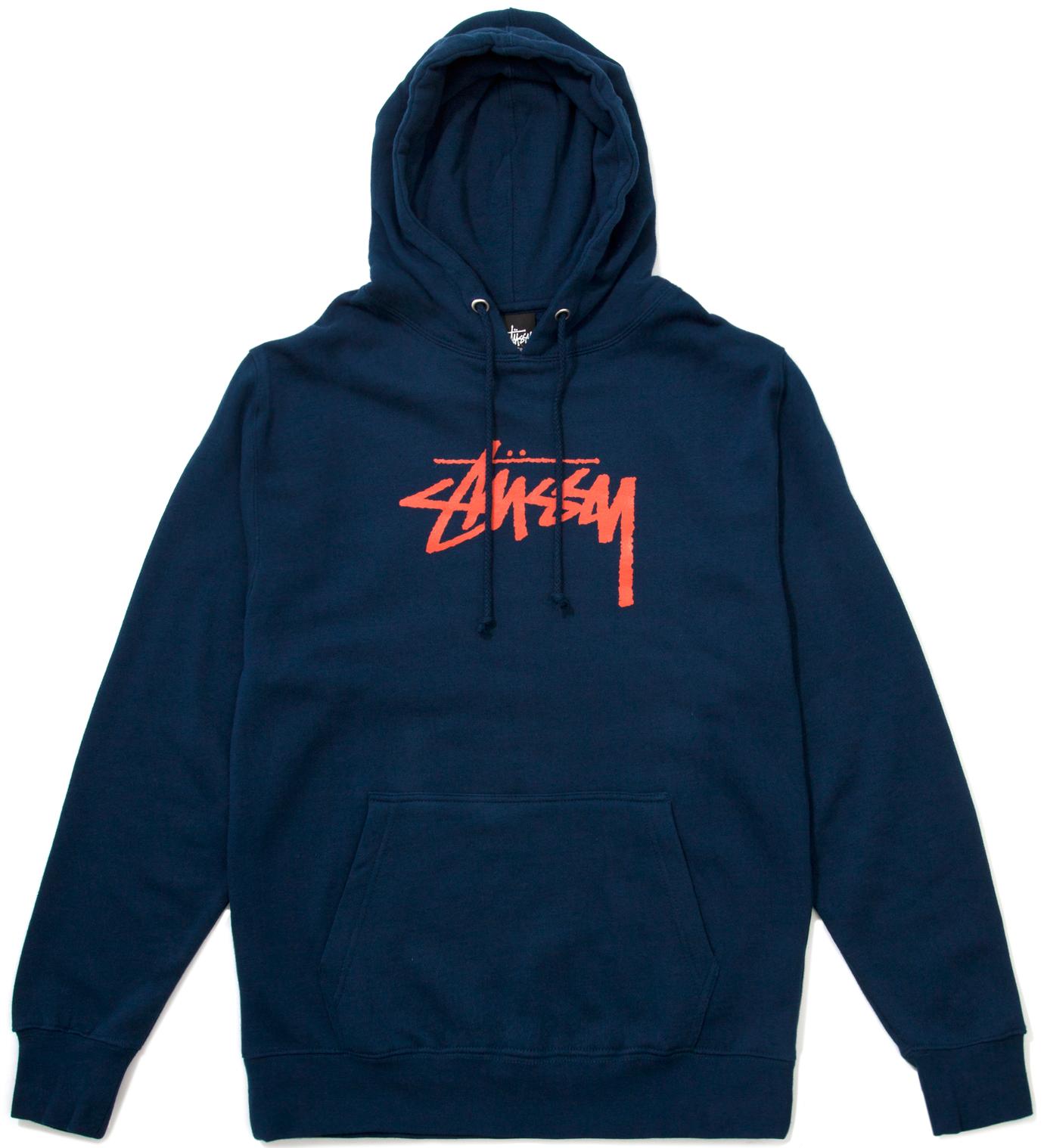 Stussy Indigo Hood Stock Hoodie