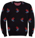 Parra Midnite Navy Freedom Jaquard Knit Sweater