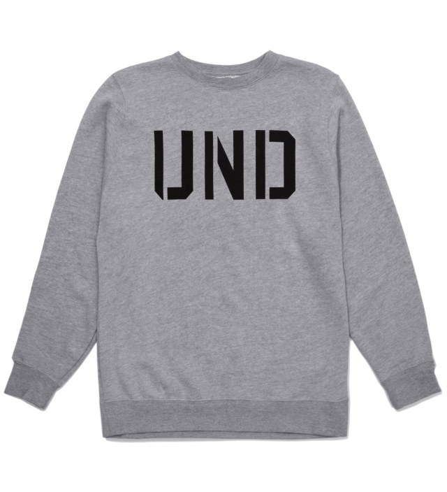 UNDEFEATED Heather Grey UND Crewneck
