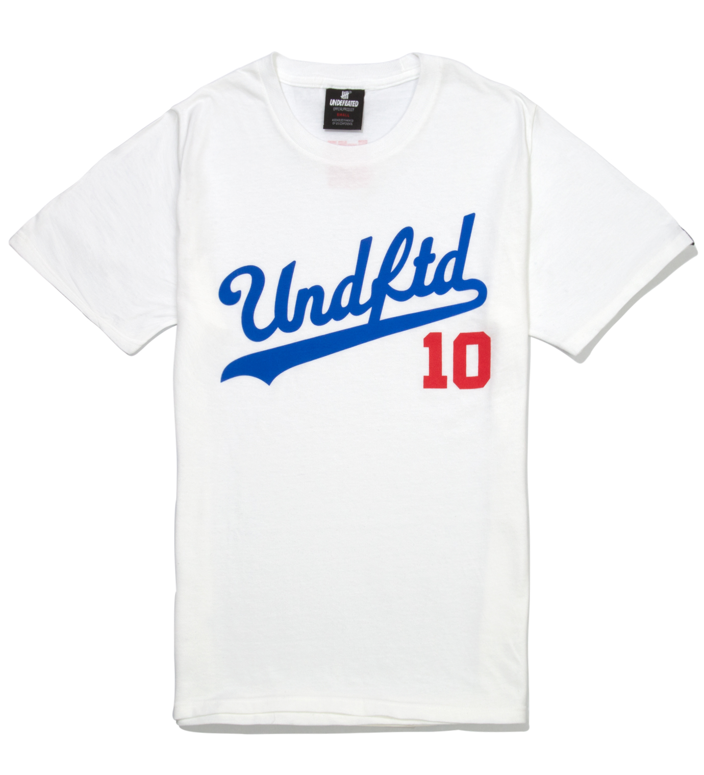 UNDEFEATED White SS UNDFTD 10 T-Shirt