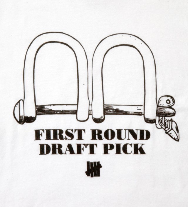 Undefeated White SS First Round Pick T-Shirt