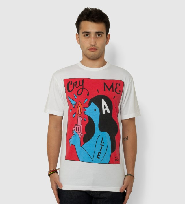 Parra White Cry Me A Lie T-Shirt