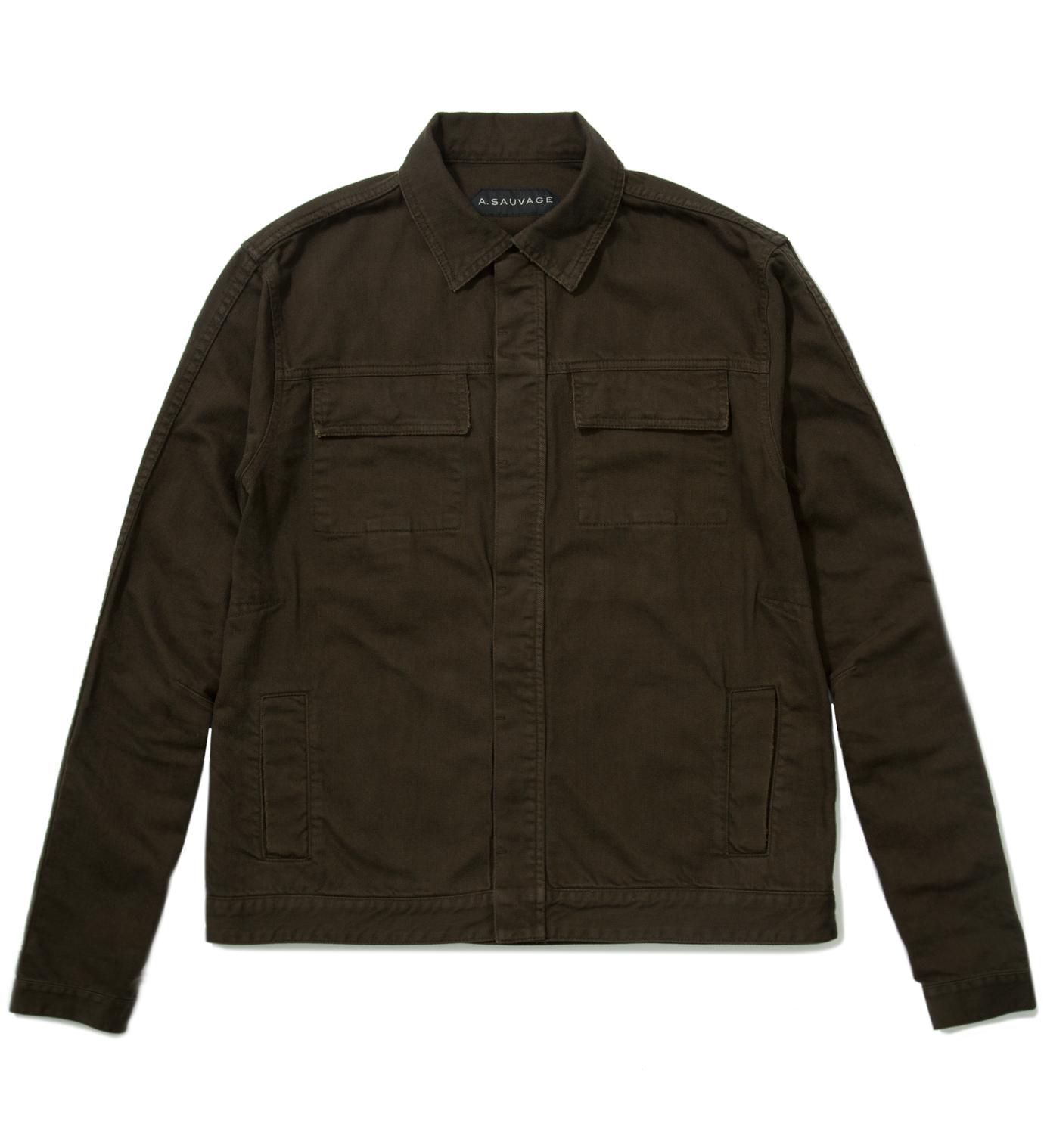 A. Sauvage Green Denim Jacket