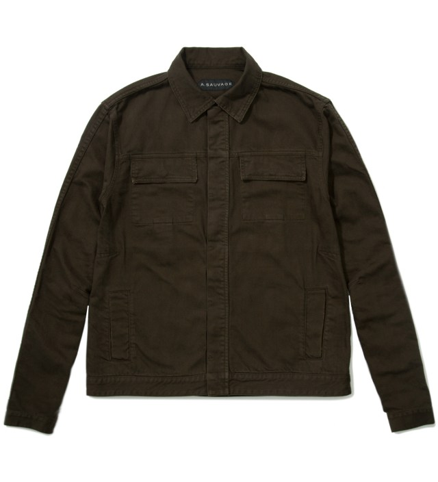 A. Sauvage Green Denim Jacket