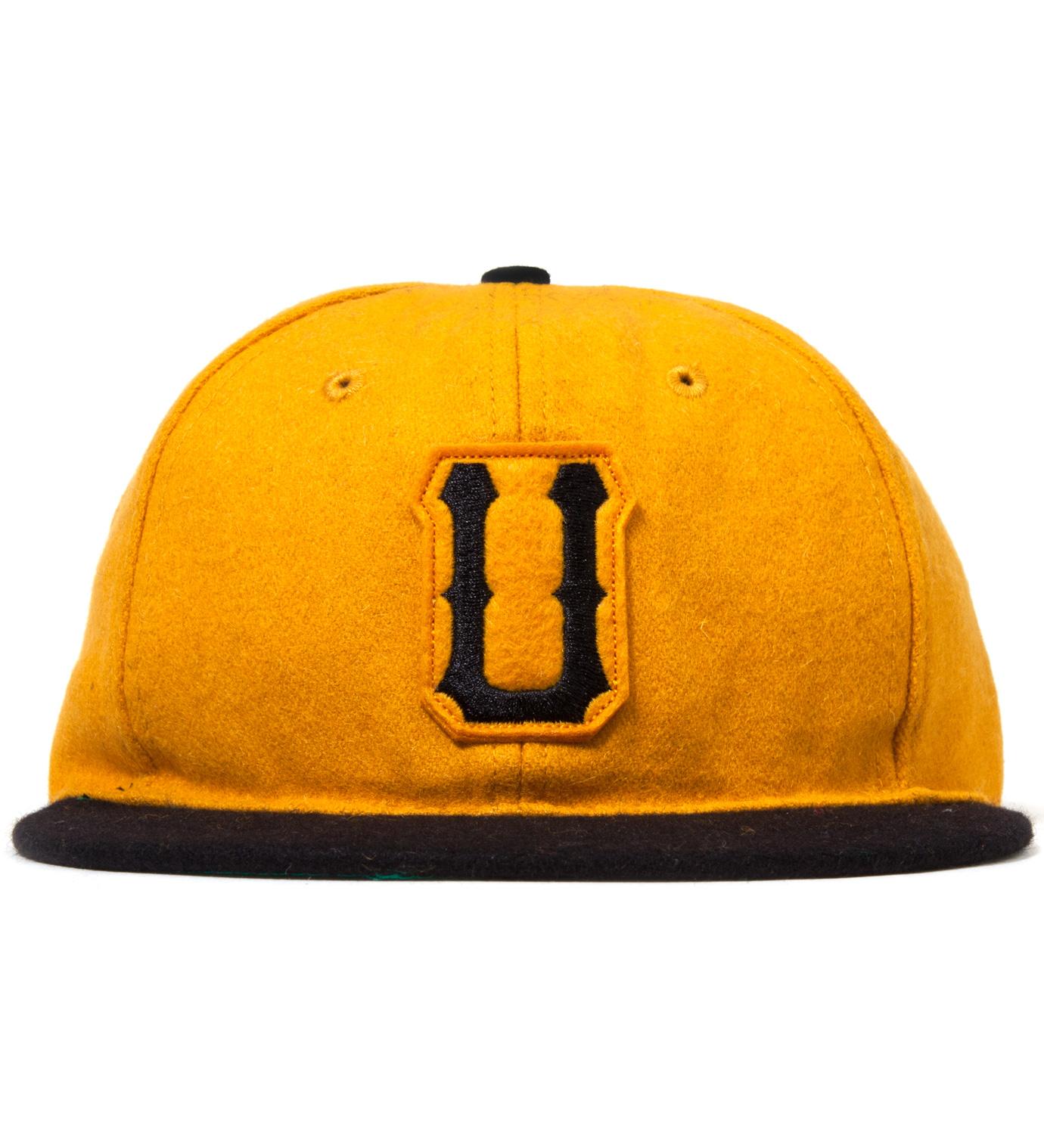 UNDEFEATED Gold Raised U Ebbets Ballcap