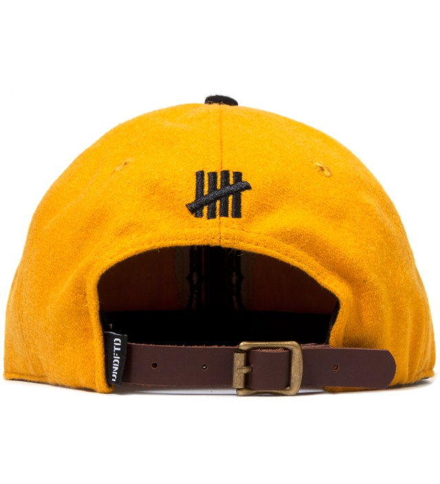 UNDEFEATED Gold Raised U Ebbets Ballcap