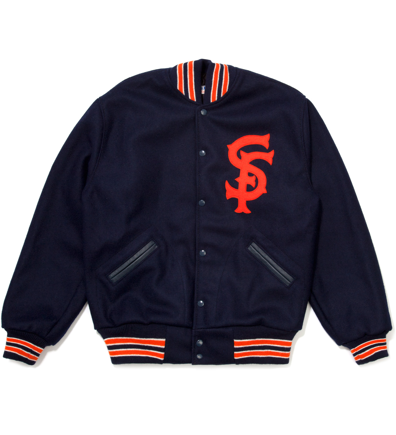 Ebbets Field Flannels Navy San Francisco Seals 1940 Jacket
