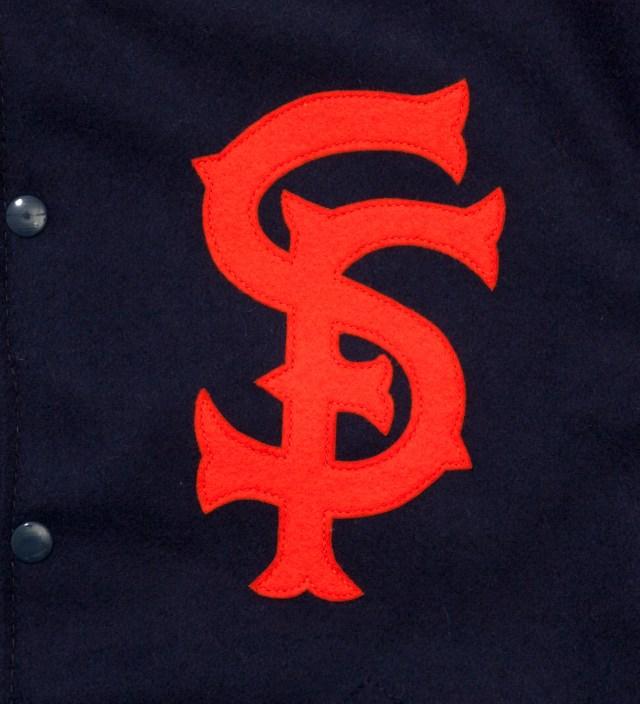 Ebbets Field Flannels Navy San Francisco Seals 1940 Jacket