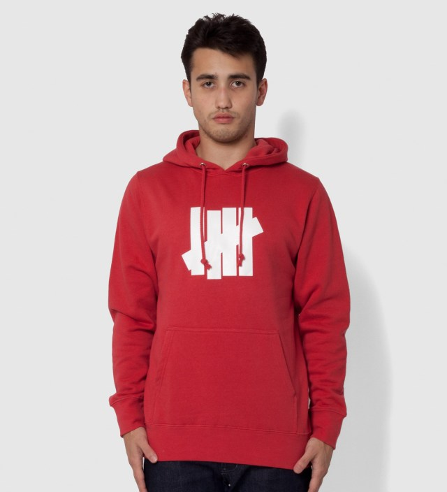 Undefeated Red 5 Strike Hoodie