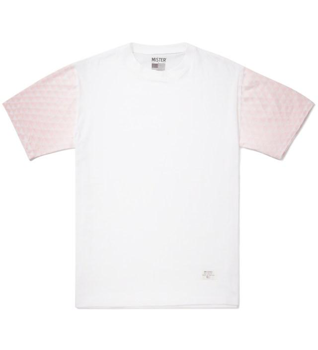 Mister White/Fire Red Print Mr. Triangle Immediate T-Shirt
