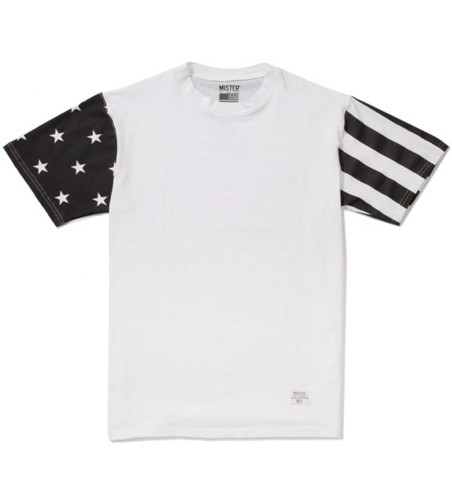 Mister White/Black Print Mr. USA Summer Blend T-Shirt