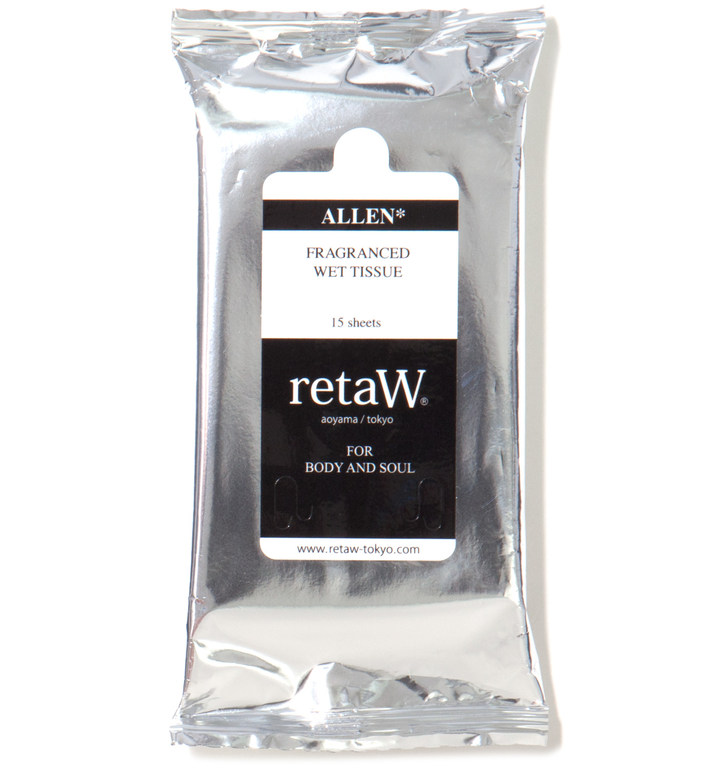 retaW Allen Fragranced Wet Tissue