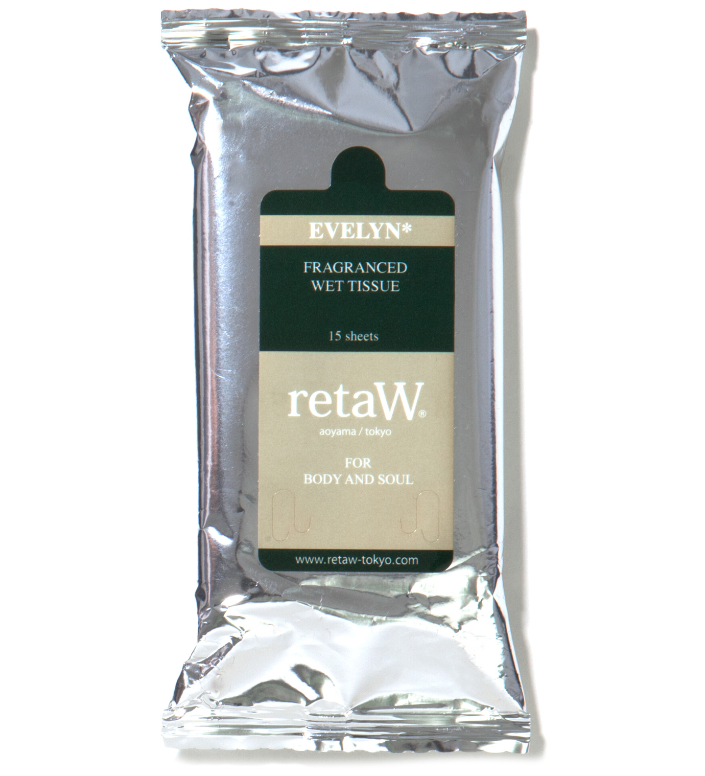 retaW Evelyn Fragranced Wet Tissue