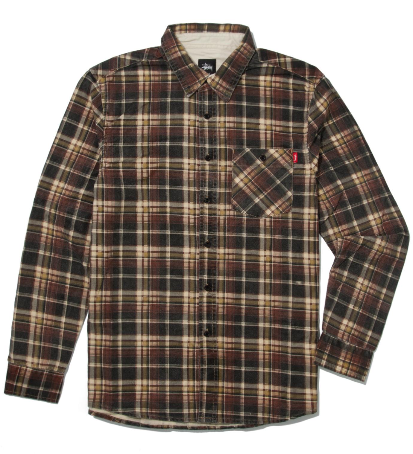 Stussy Yellow Richardson Plaid Shirt