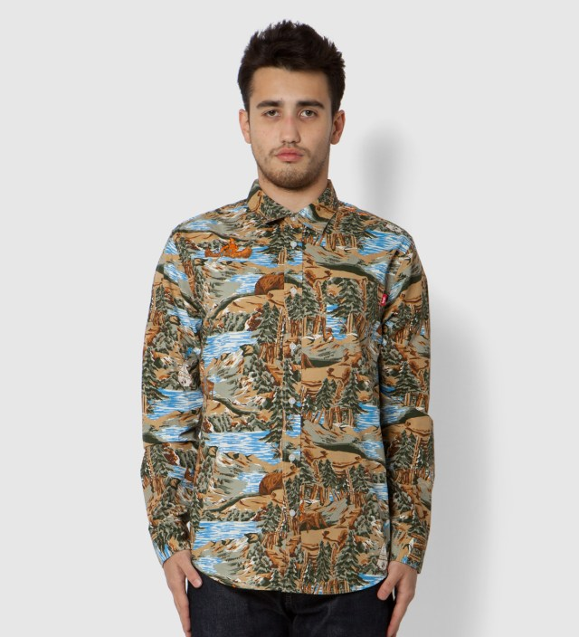 Stussy Brown Frontier Shirt