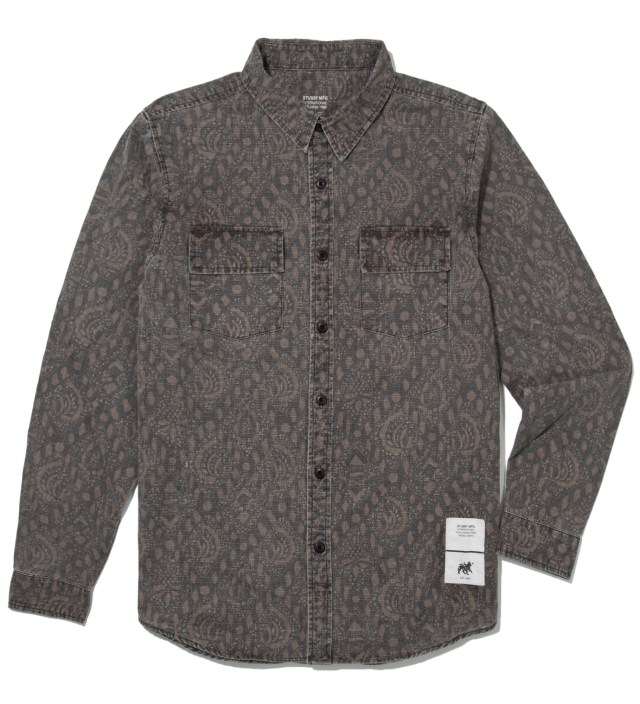 Stussy Black Bali Shirt