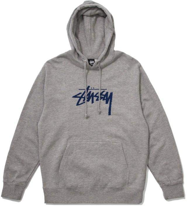 Stussy Grey Heather Hood Stock Hoodie
