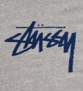 Stussy Grey Heather Hood Stock Hoodie