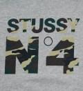 Stussy Grey Heather Camo No 4 Hoodie
