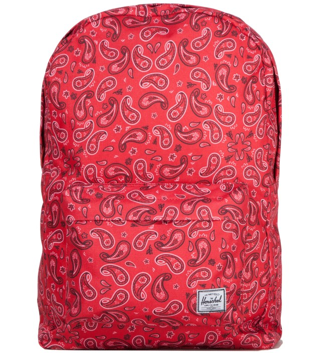 Herschel Supply Co. Red Paisley Classic Backpack