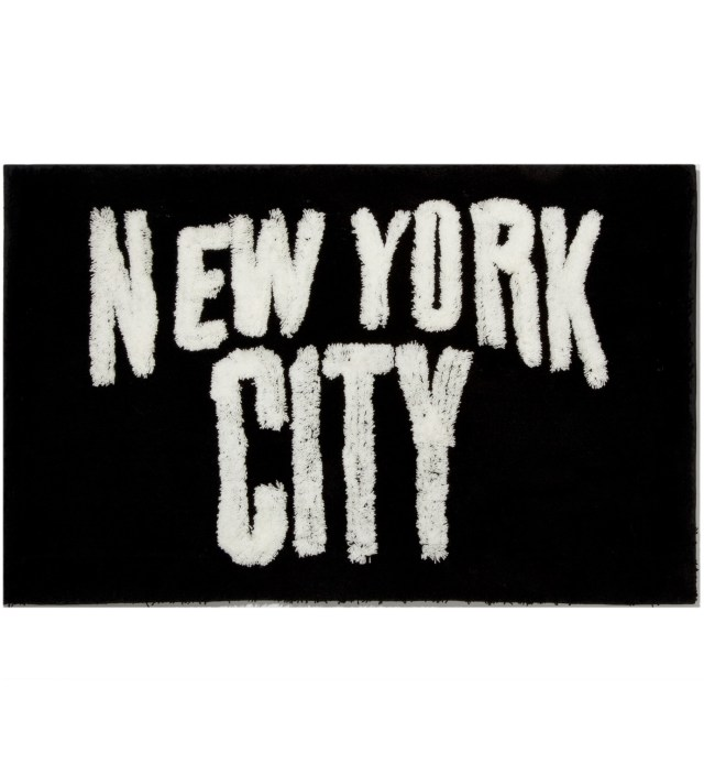 SECOND LAB Black New York City Rug