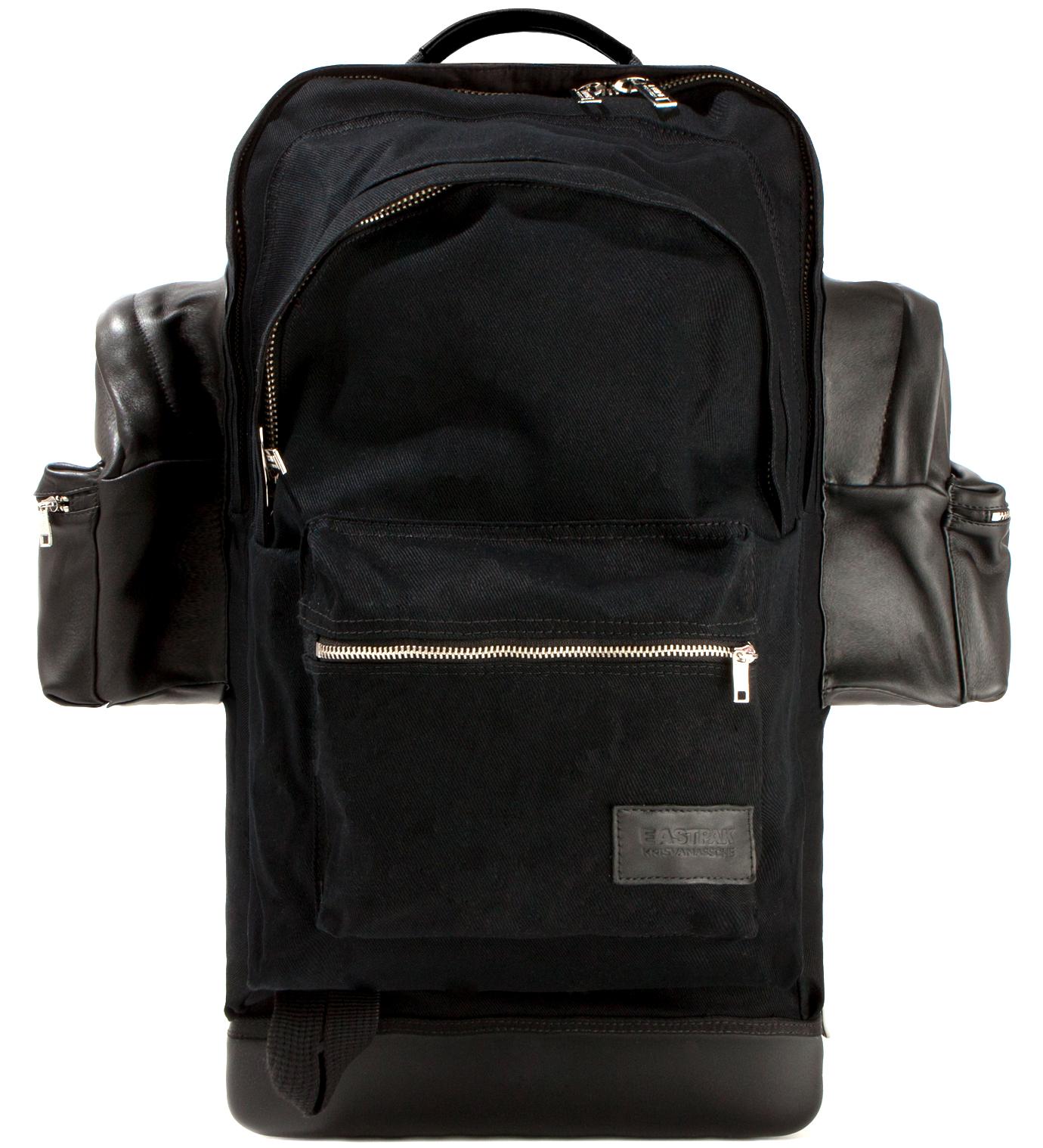 KRISVANASSCHE Eastpak KRISVANASSCHE Black Cotton Backpack XXL