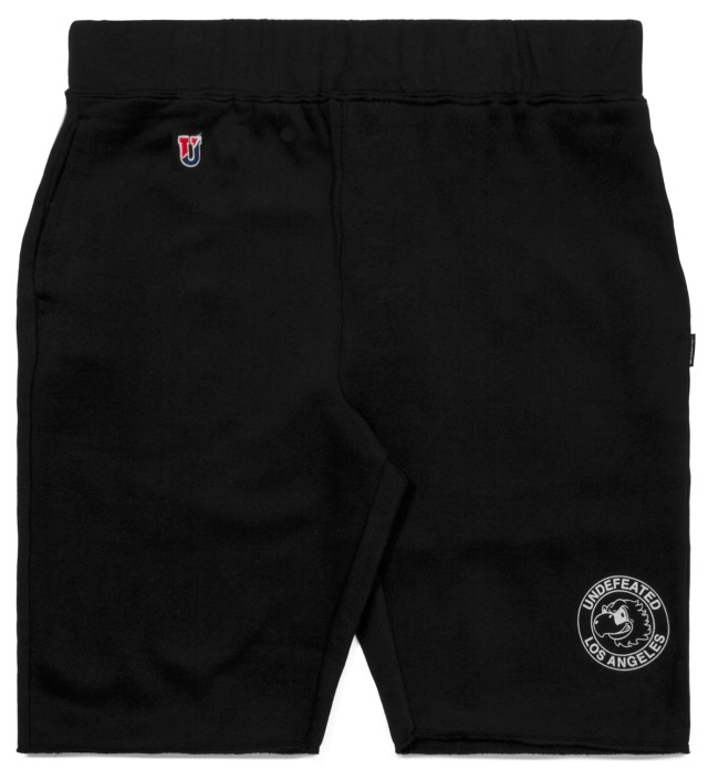 UNDEFEATED Black Mascot Circle Shorts