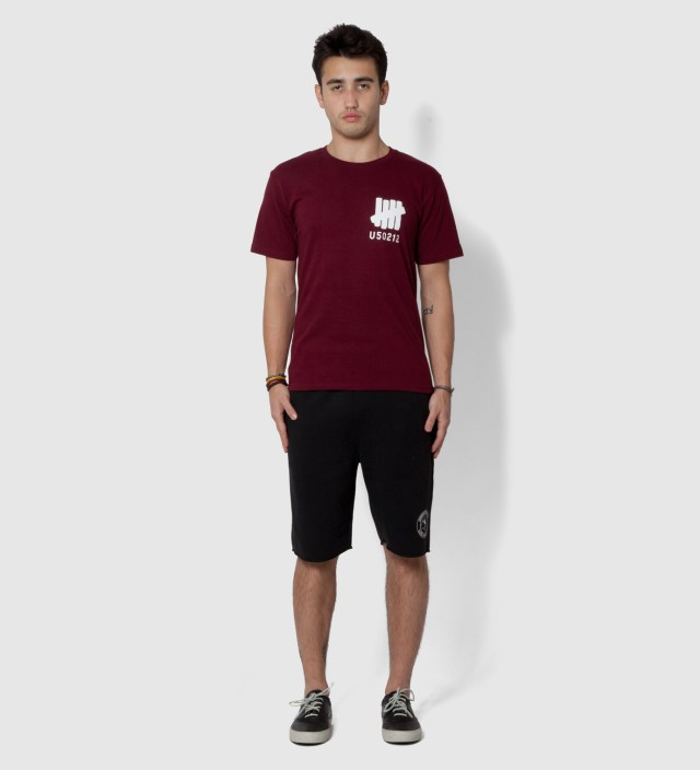 UNDEFEATED Black Mascot Circle Shorts