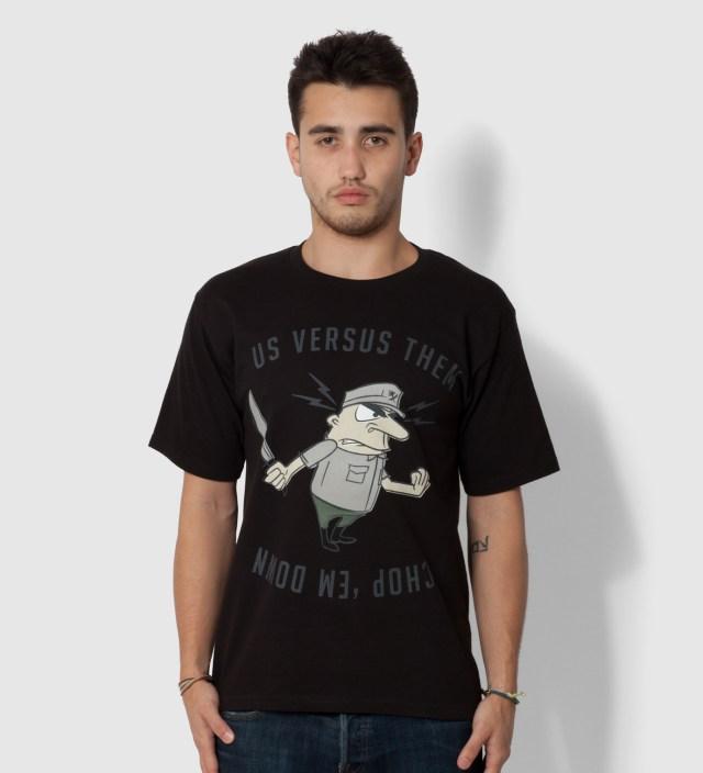 Us Versus Them Black Chopper T-Shirt