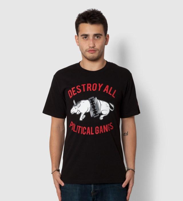 Us Versus Them Black Gangland Donkey T-Shirt