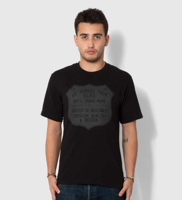 Us Versus Them Black Superior Seal T-Shirt