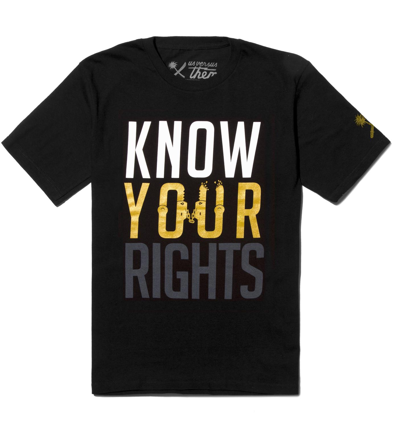 Us Versus Them Black Restrained T-Shirt