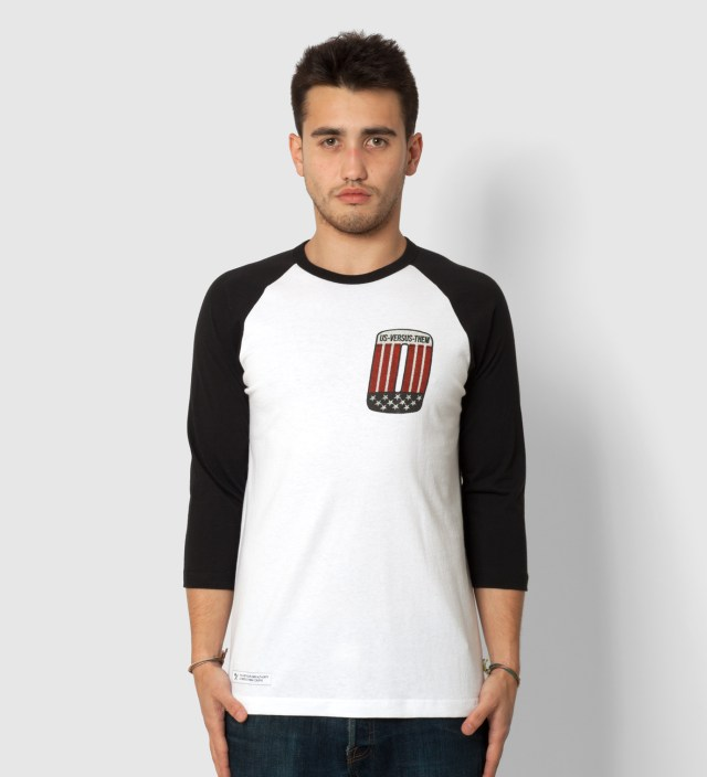 Us Versus Them Black Patched Raglan