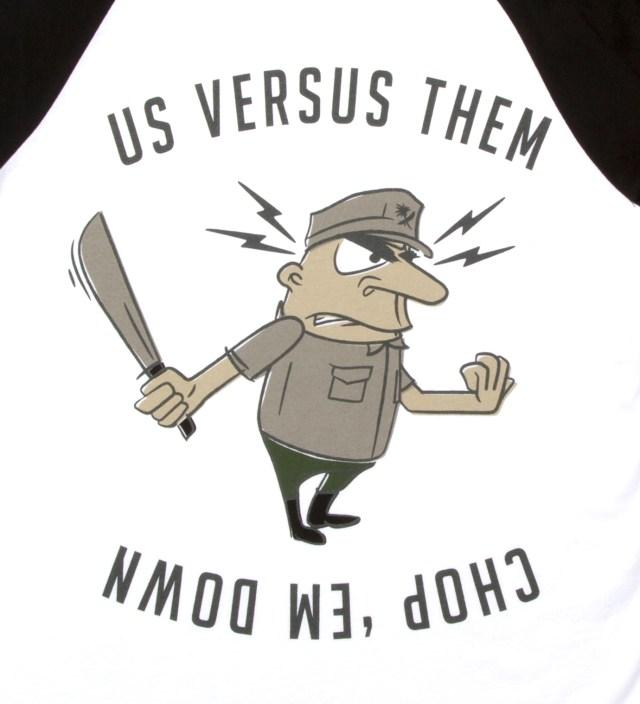 Us Versus Them Black Chopper Raglan