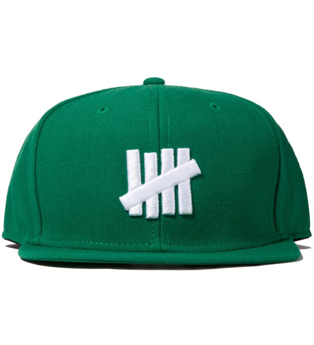 UNDEFEATED Green 5 Strike Snapback Ballcap