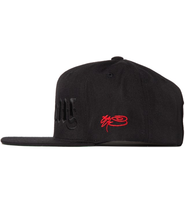 SSUR Black and Black Redrum Snapback Hat