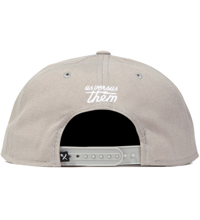 Us Versus Them Grey Aware Snapback Ballcap