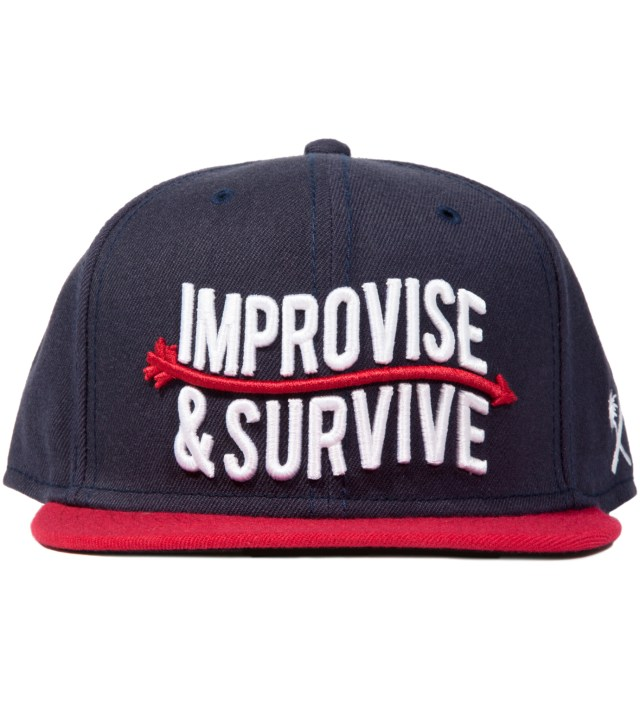 Us Versus Them Navy Improvise Snapback Ballcap