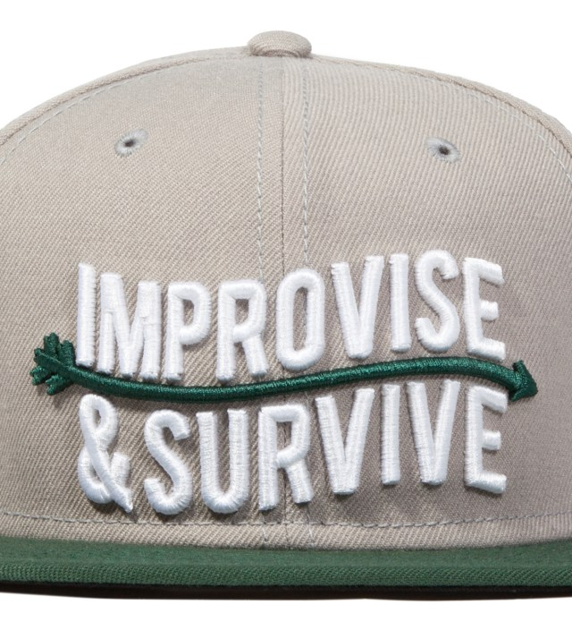 Us Versus Them Grey Improvise Snapback Ballcap