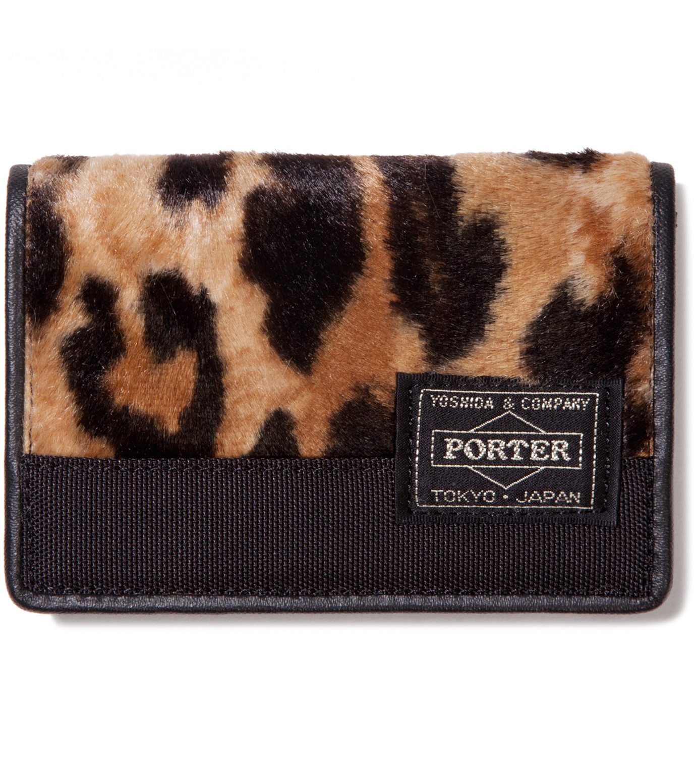 Head Porter Leopard Mombasa Canvas Card Case