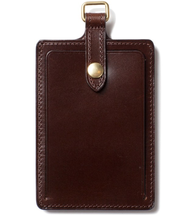 DELUXE Brown Badge Card Case