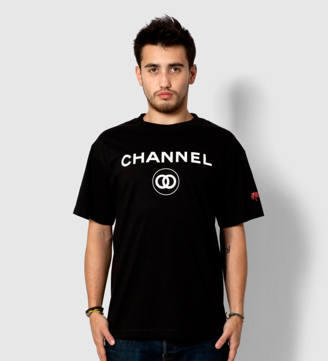 SSUR Black Channel Zero T-Shirt