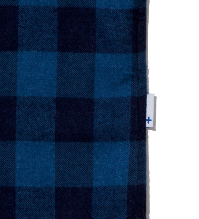 Head Porter Plus Blue Block Check Shirt
