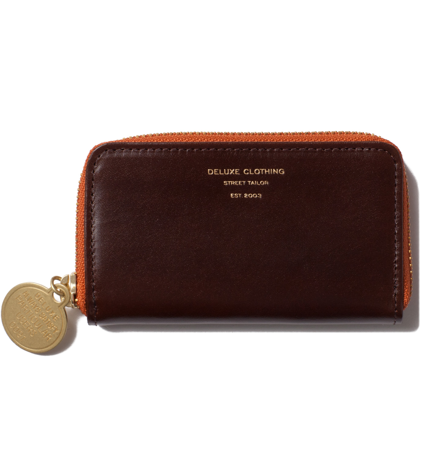DELUXE Brown Heads Or Tails Coin Purse