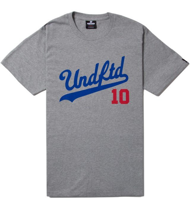 UNDEFEATED Heather Grey SS UNDFTD 10 T-Shirt