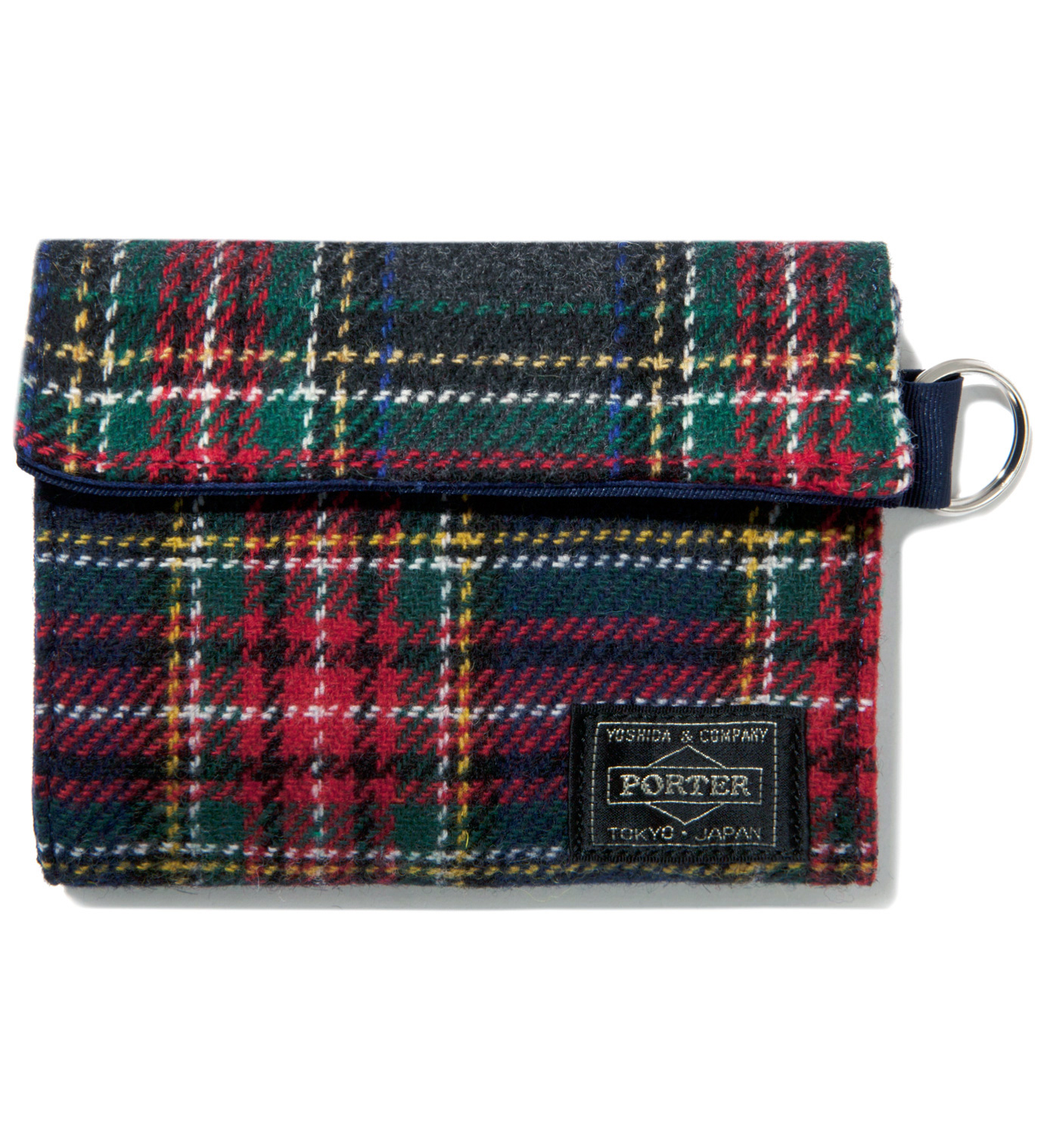 Head Porter Navy/Gray Lesson Wallet (M)